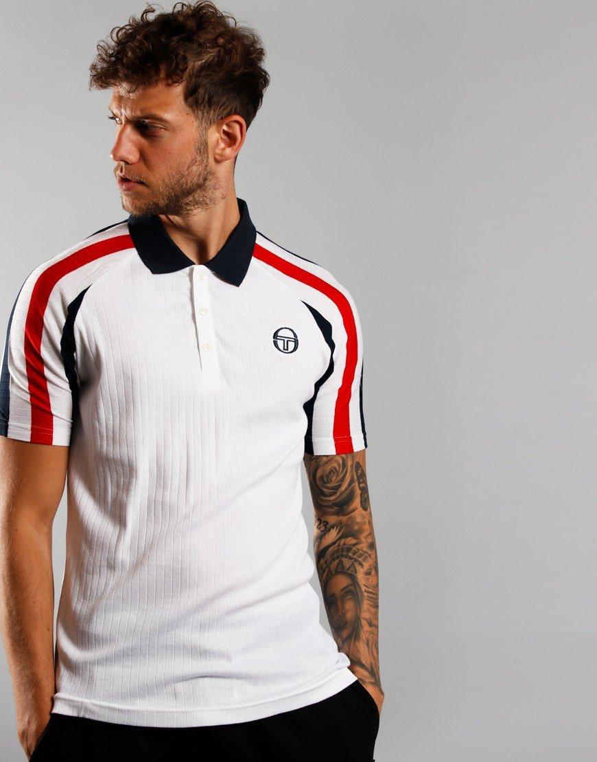 Sergio Tacchini Blow Polo Shirt White/Red