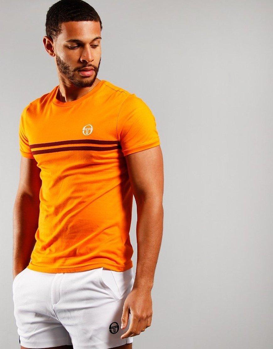 Sergio Tacchini Supermac 3 T-Shirt Tangelo/Bordeaux