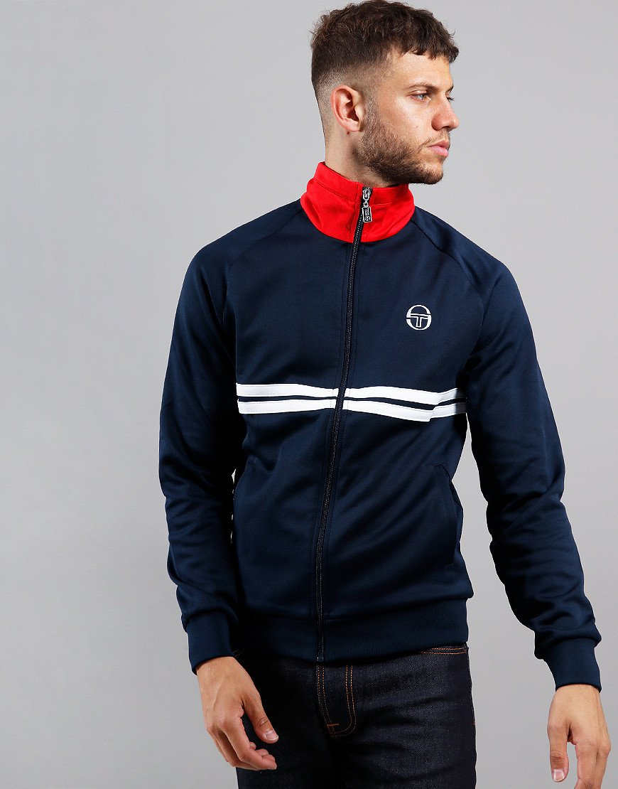 Sergio Tacchini Dallas Track Top Navy/White