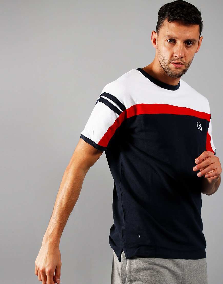 Sergio Tacchini Daska T-Shirt Navy/White