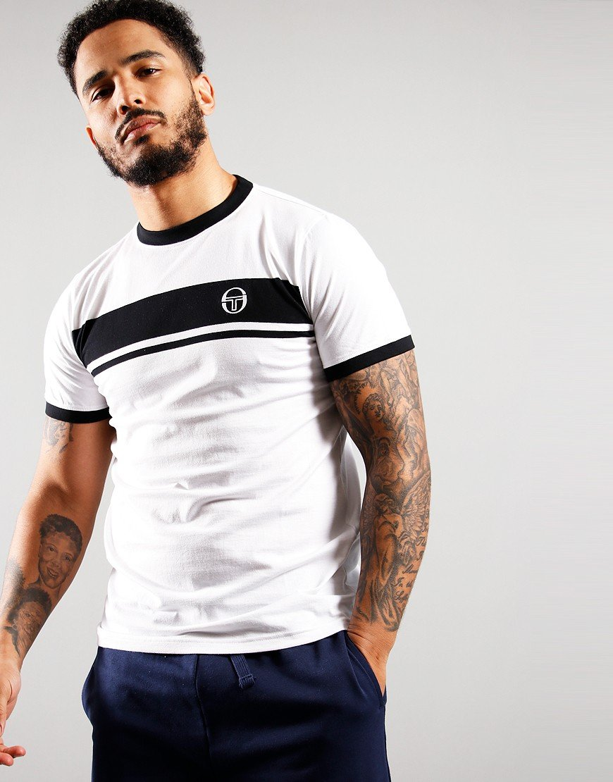 Sergio Tacchini Young Line Polo Shirt White/Black