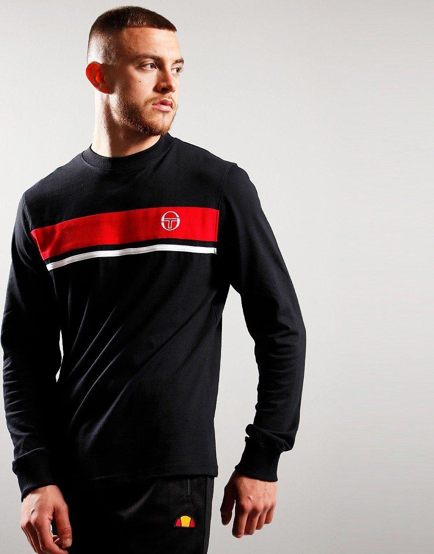 Sergio Taccini Masters Long Sleeve T-shirt Black/Red/White