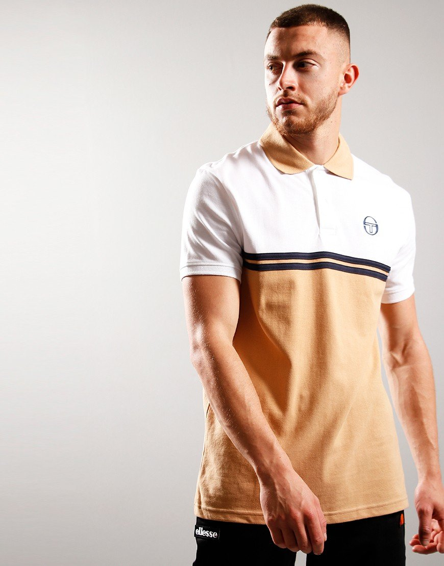 Sergio Tacchini Numac Polo Shirt Doe/White/Navy