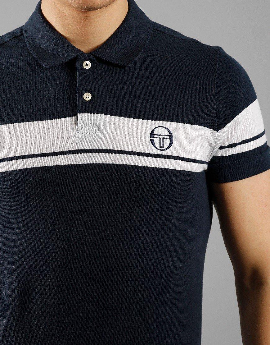 Sergio Tacchini Young Line Polo Shirt Navy/White