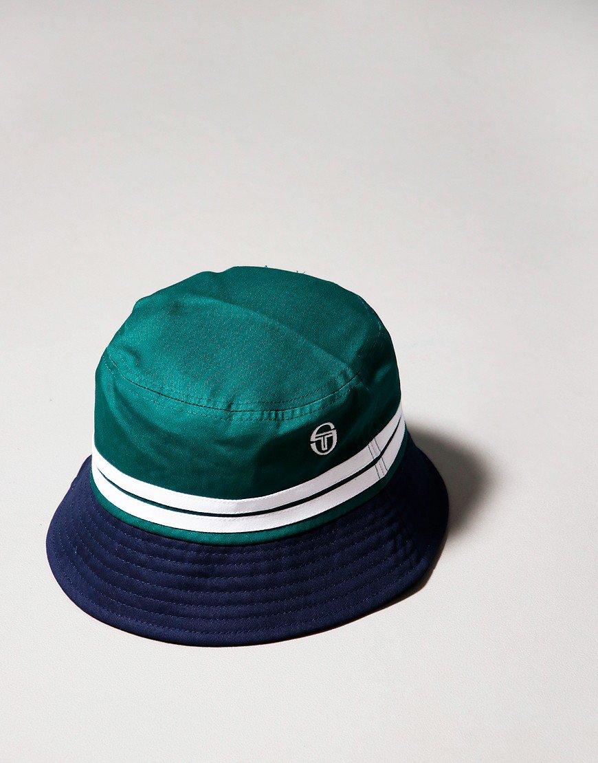 Sergio Tacchini Stonewoods Bucket Hat Botanical Navy