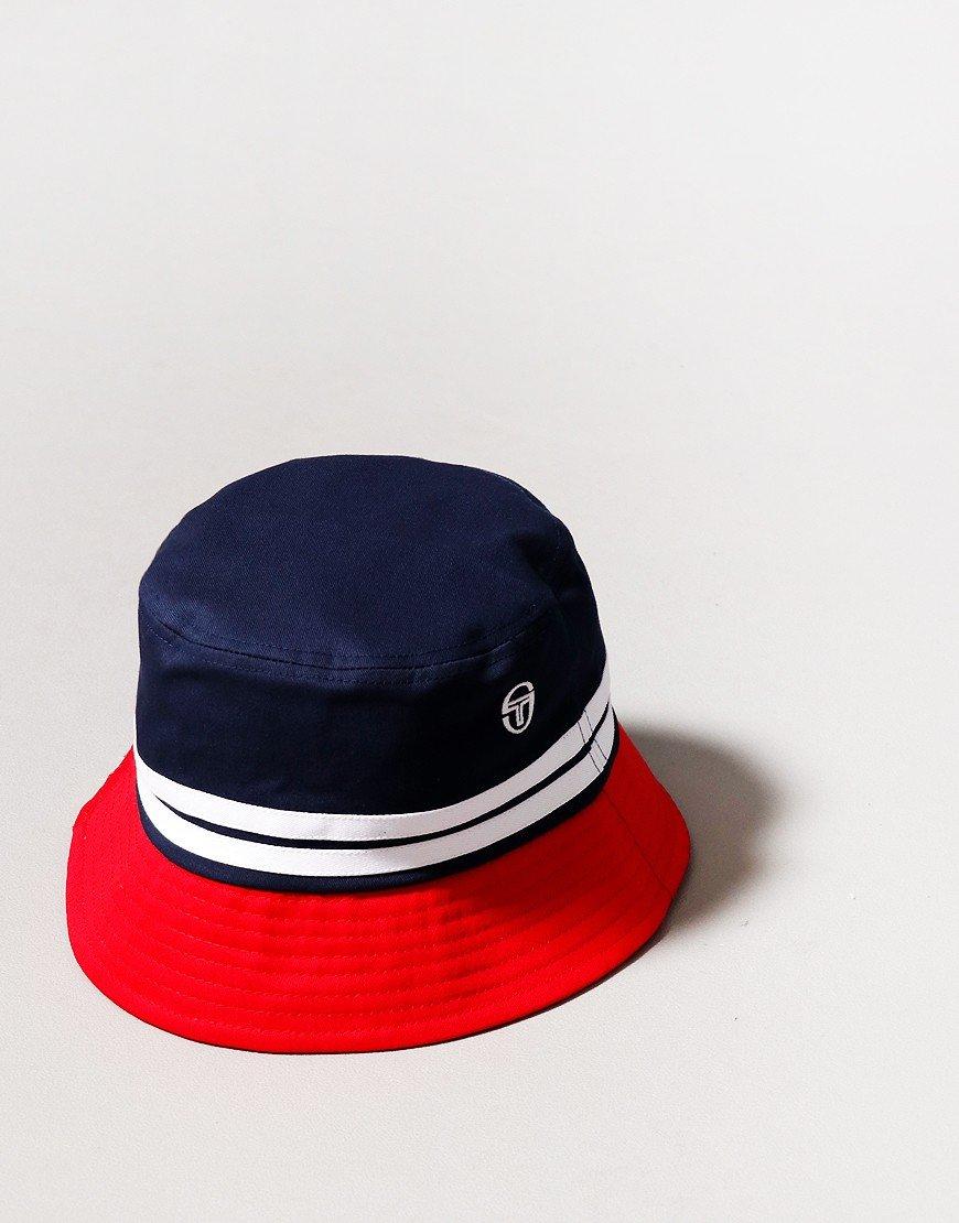 Sergio Tacchini Stonewoods Bucket Hat Navy/Molten/Lava