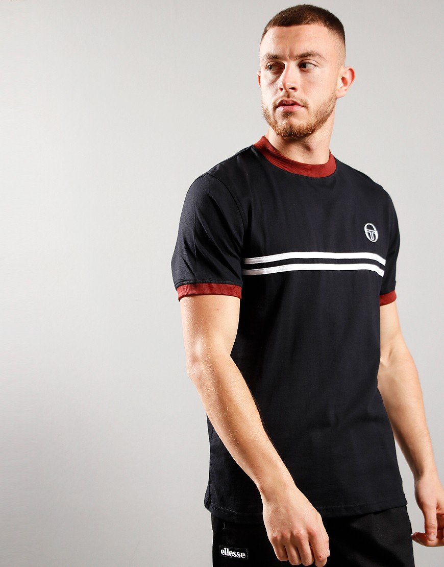 Sergio Taccini Supermac 3 T-shirt Black/Port/White