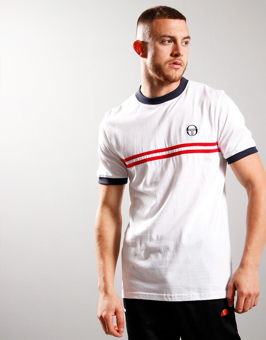 Sergio Taccini Supermac 3 T-shirt White/Navy/Rd