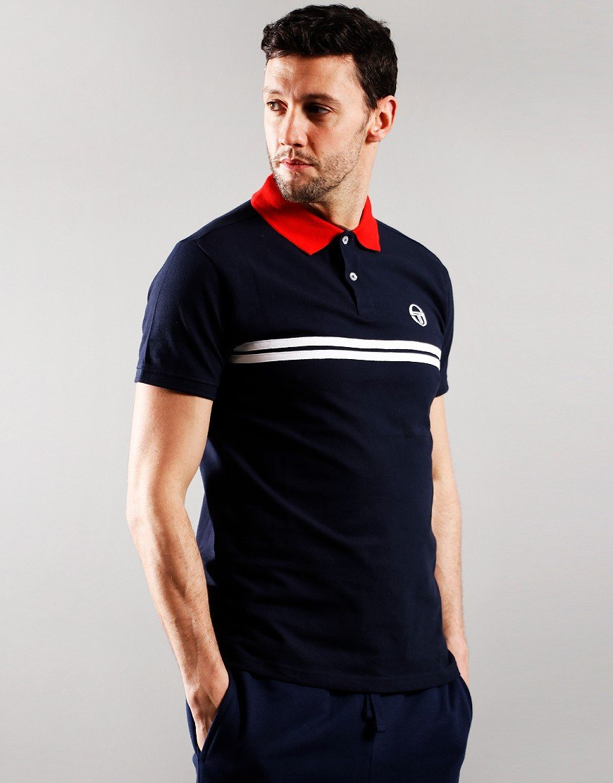 Sergio Tacchini Supermac Polo Shirt Night Sky