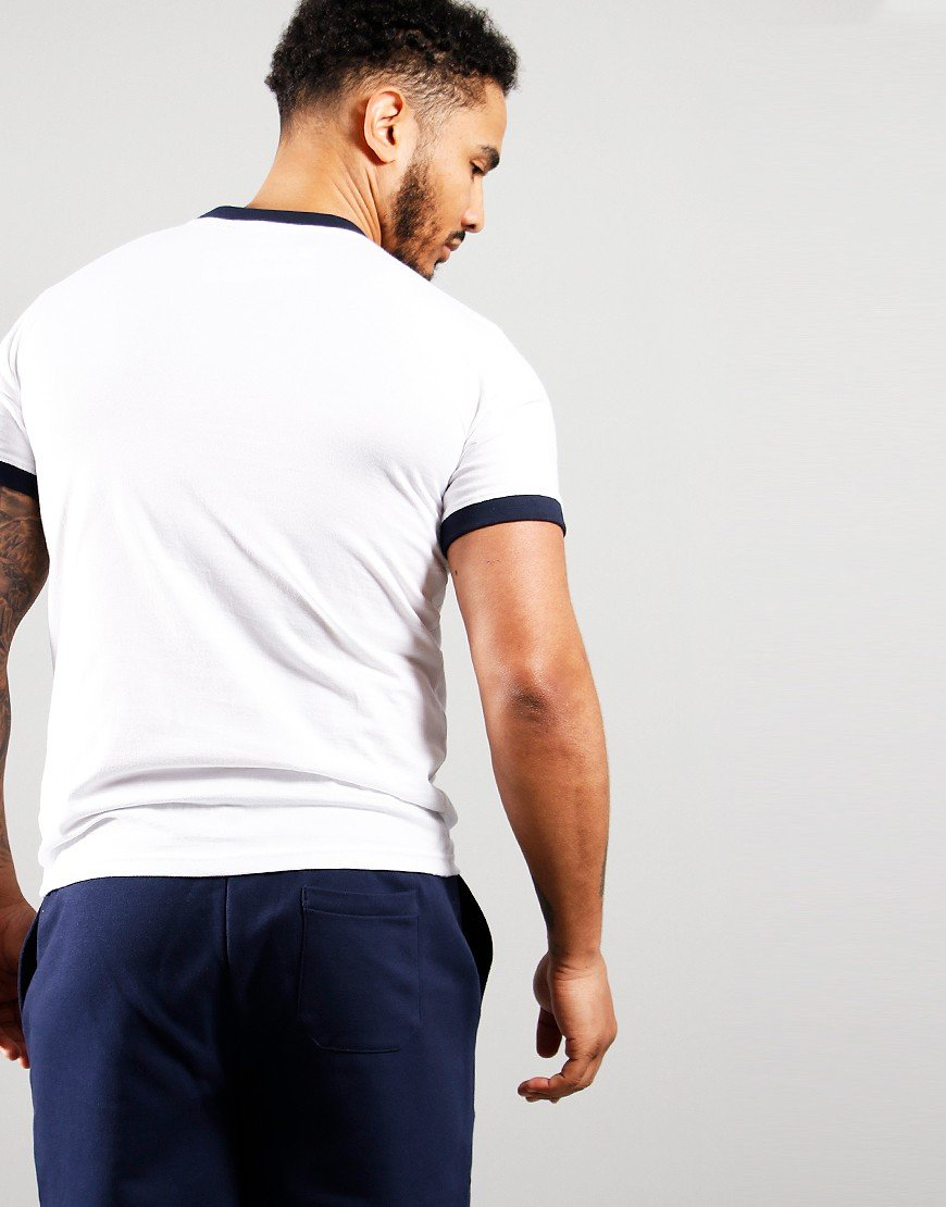 Sergio Tacchini Supermac T-Shirt White/Navy/Red