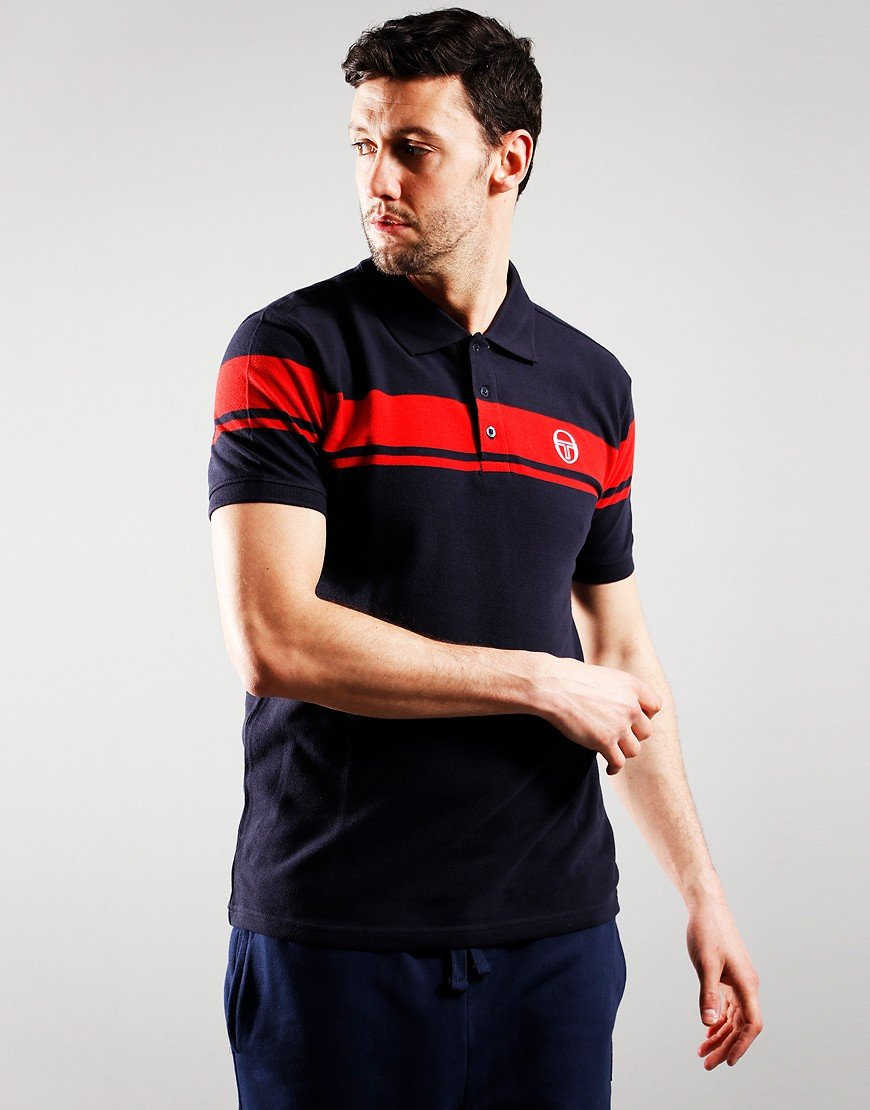 Sergio Tacchini Young Line Polo Shirt Night Sky/Red