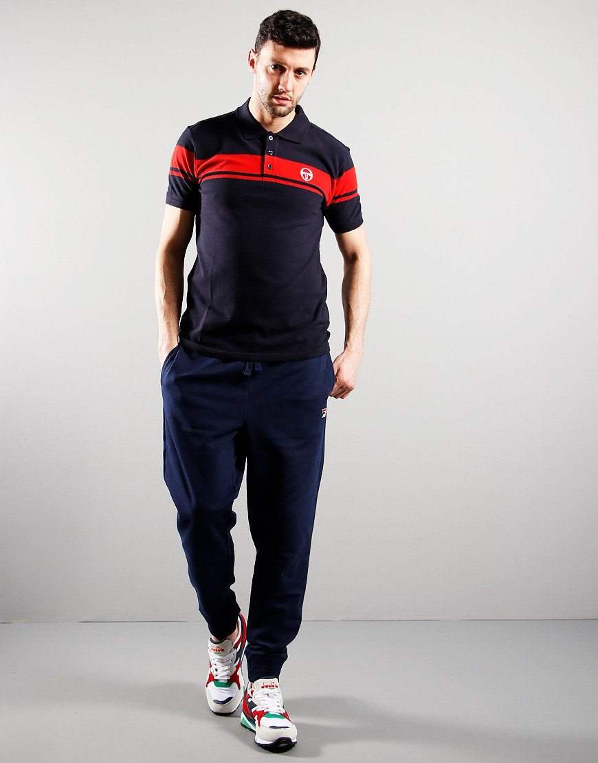Sergio Tacchini Young Line Polo Shirt Night Sky/Red