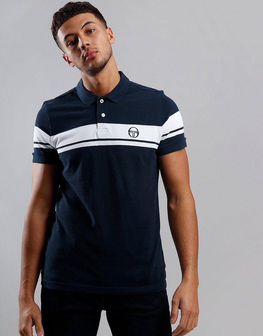 Sergio Tacchini Young Line Polo Shirt Navy/White