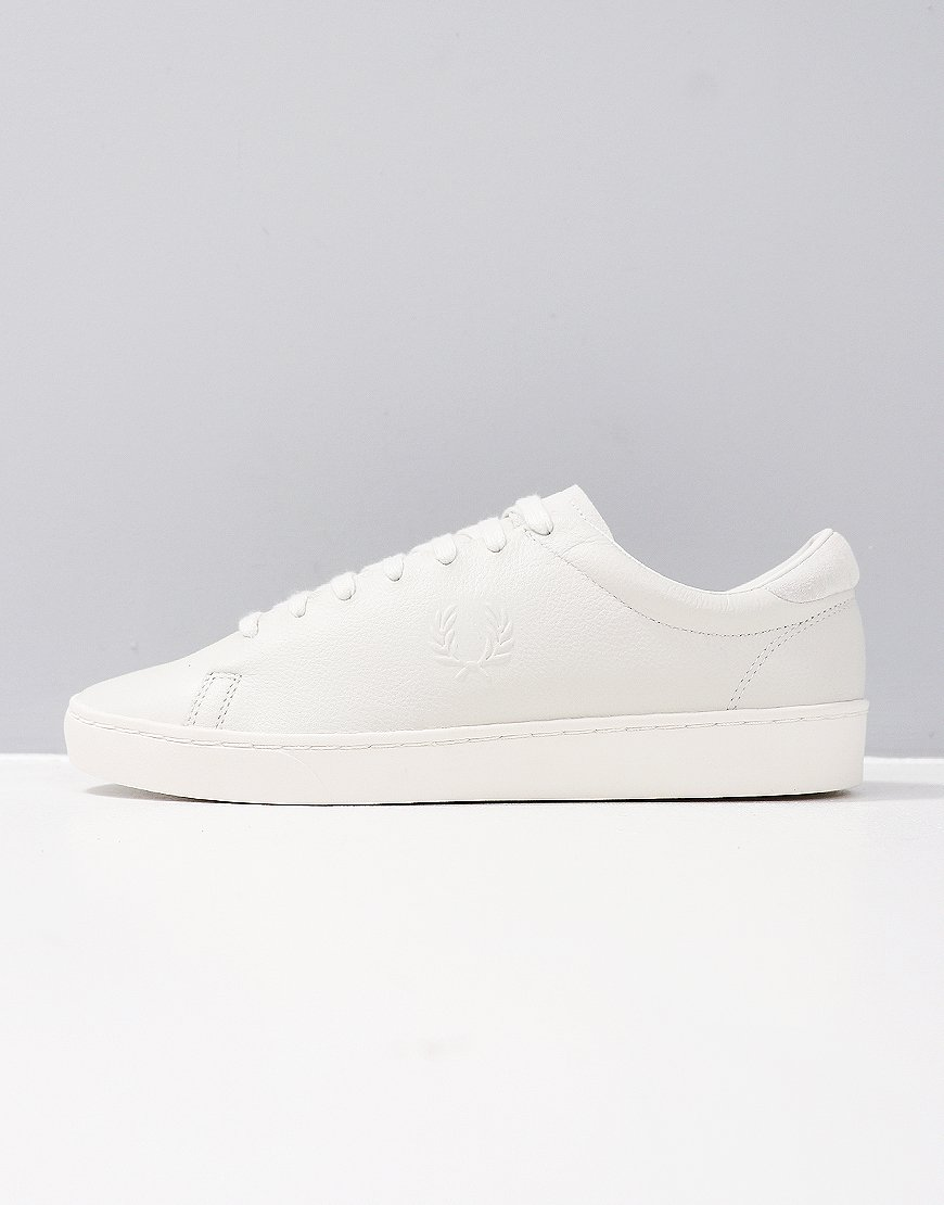 Fred Perry Spencer Premium Leather Porcelain
