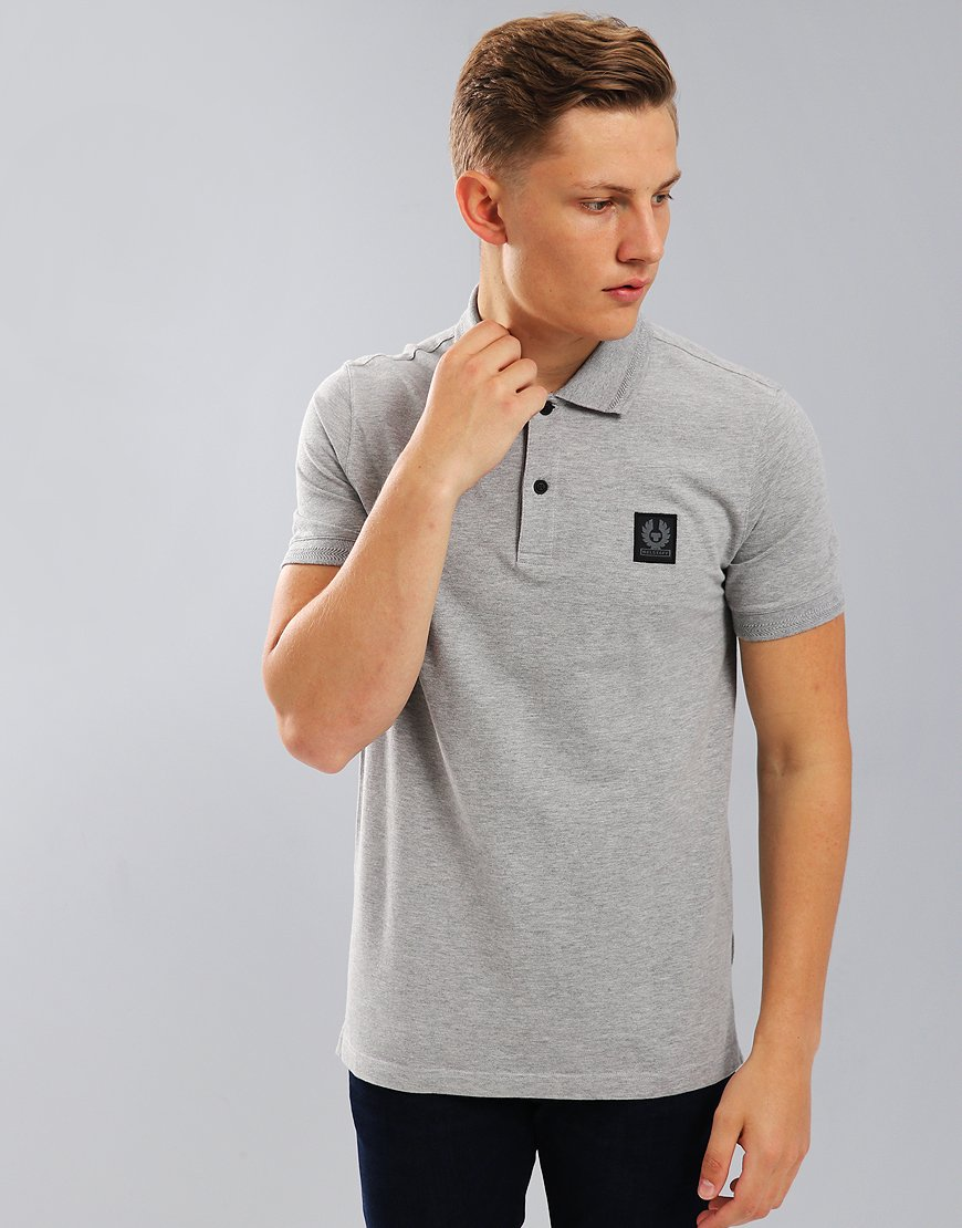 Belstaff Stannett Polo Shirt Grey