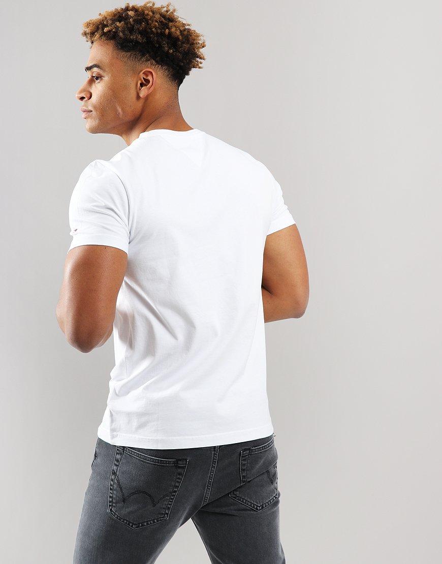 acaf218d8 Tommy Hilfger Stripe Hilfiger T-shirt Bright White - Terraces Menswear