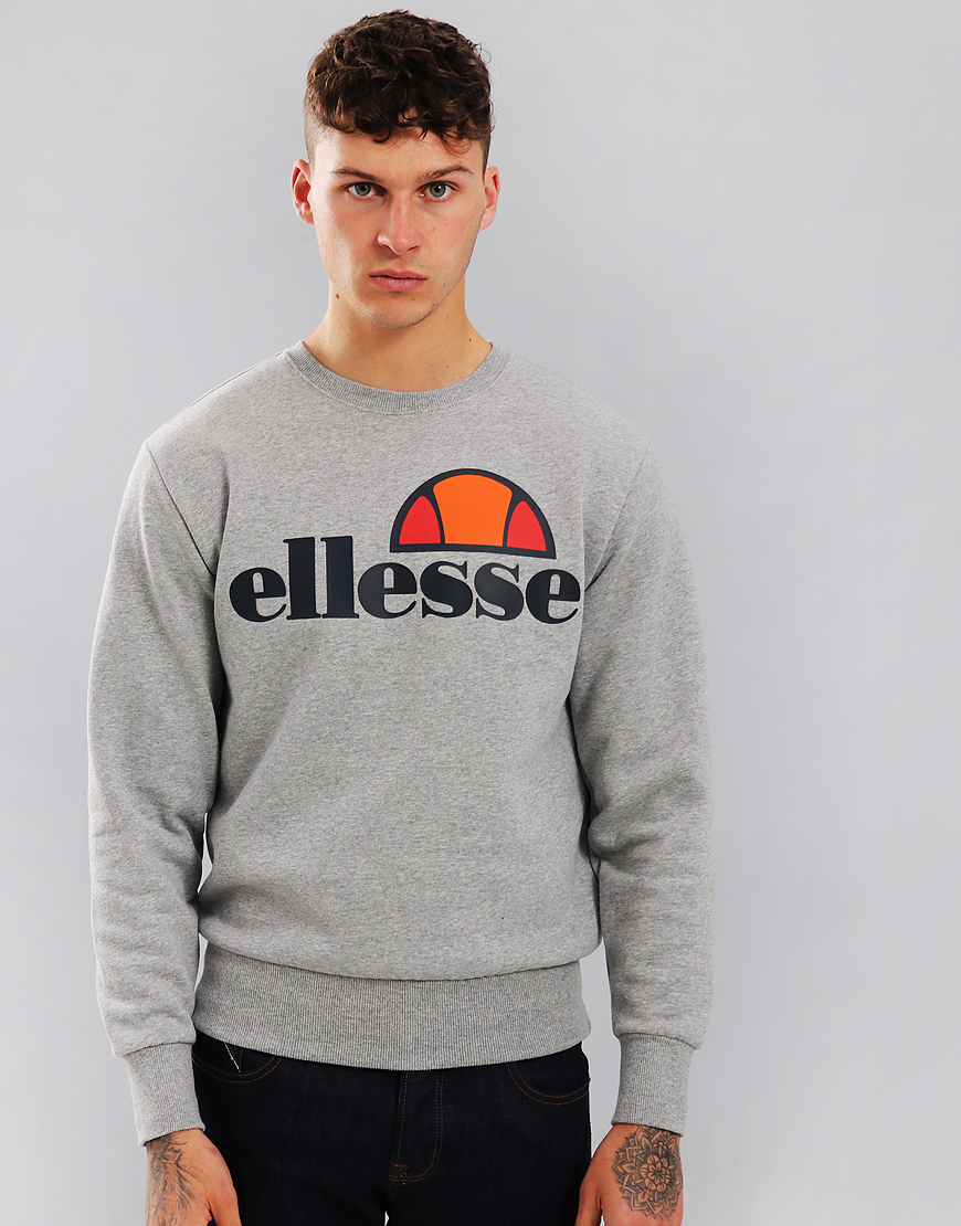 Ellesse Succiso Crew Sweat Athletic Grey