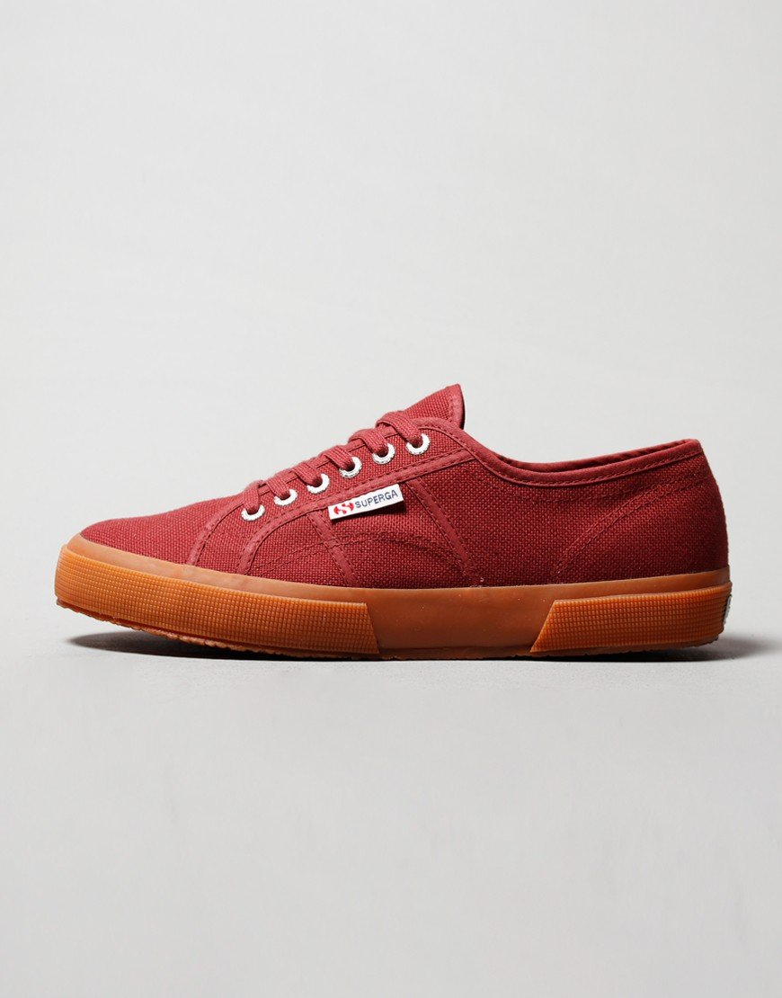 Superga Cotu Classic 2750 Canvas Trainers Brown Oxblood