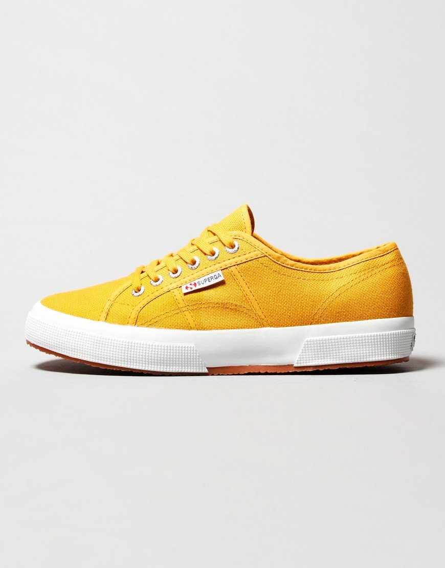 Superga 2750 Cotu Trainers Yellow Golden