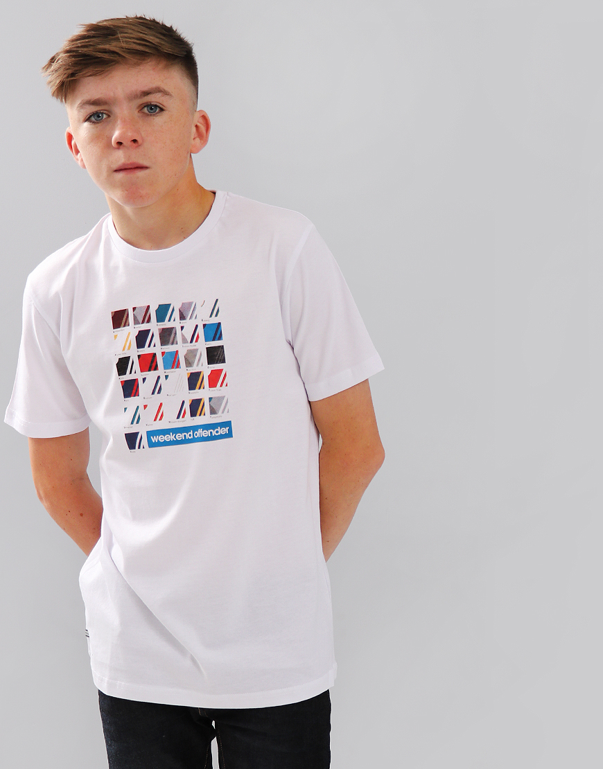 Weekend Offender Kids ABC T-Shirt White