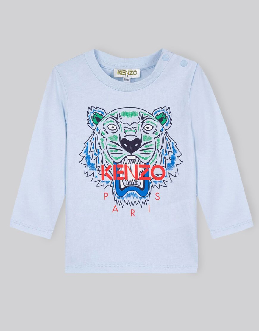 Kenzo Kids BB1 Tiger T-Shirt Light Blue