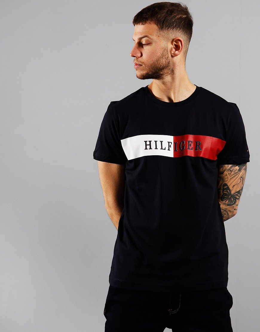 Tommy Hilfiger Block Stripe T-Shirt Desert Sky
