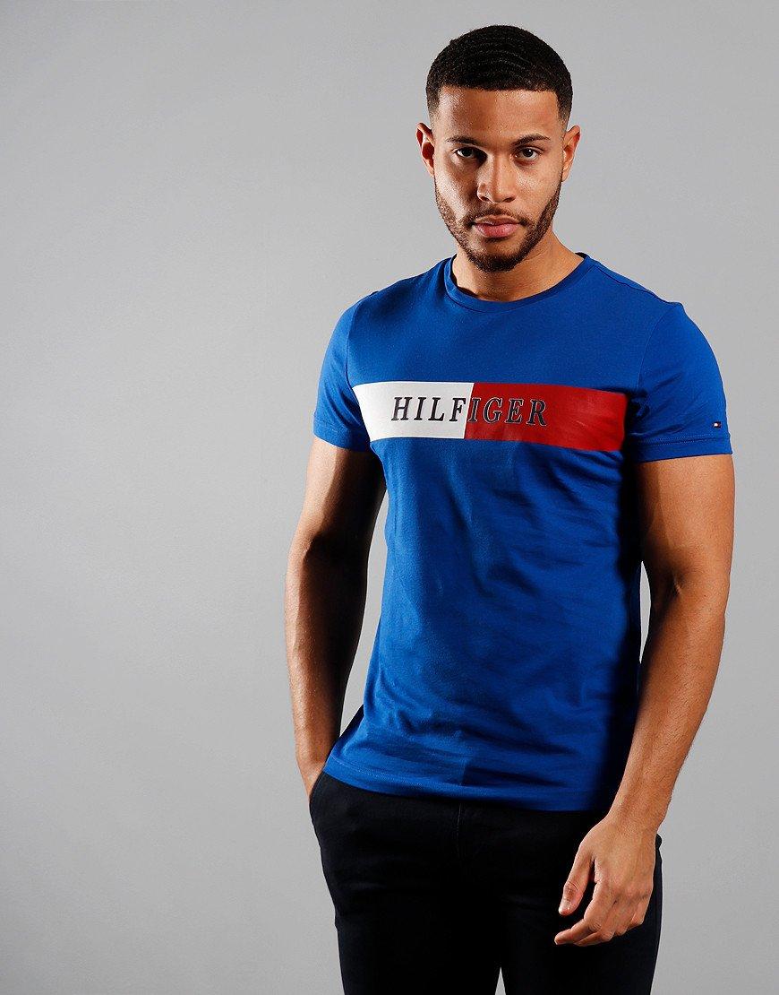 Tommy Hilfiger Block Stripe T-Shirt Phthalo Blue