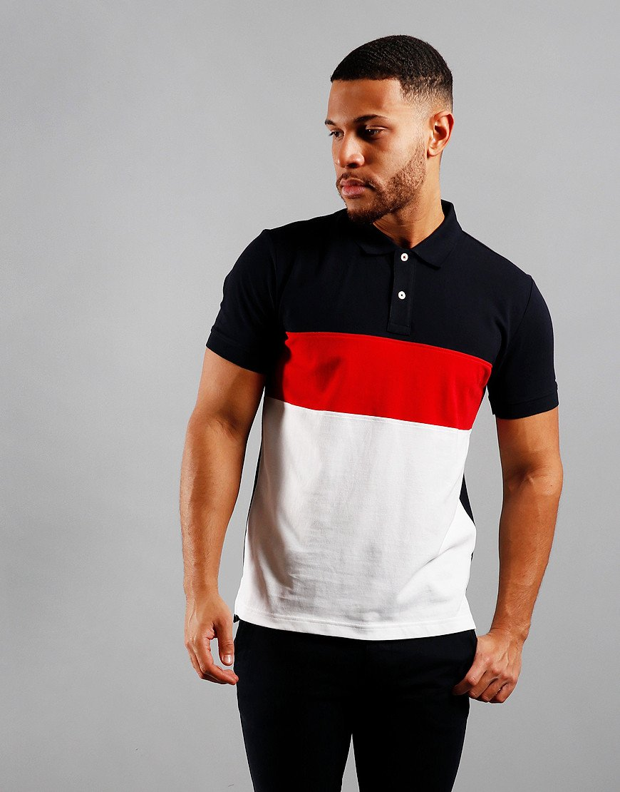 Tommy Hilfiger Colour Block Polo Shirt Multi
