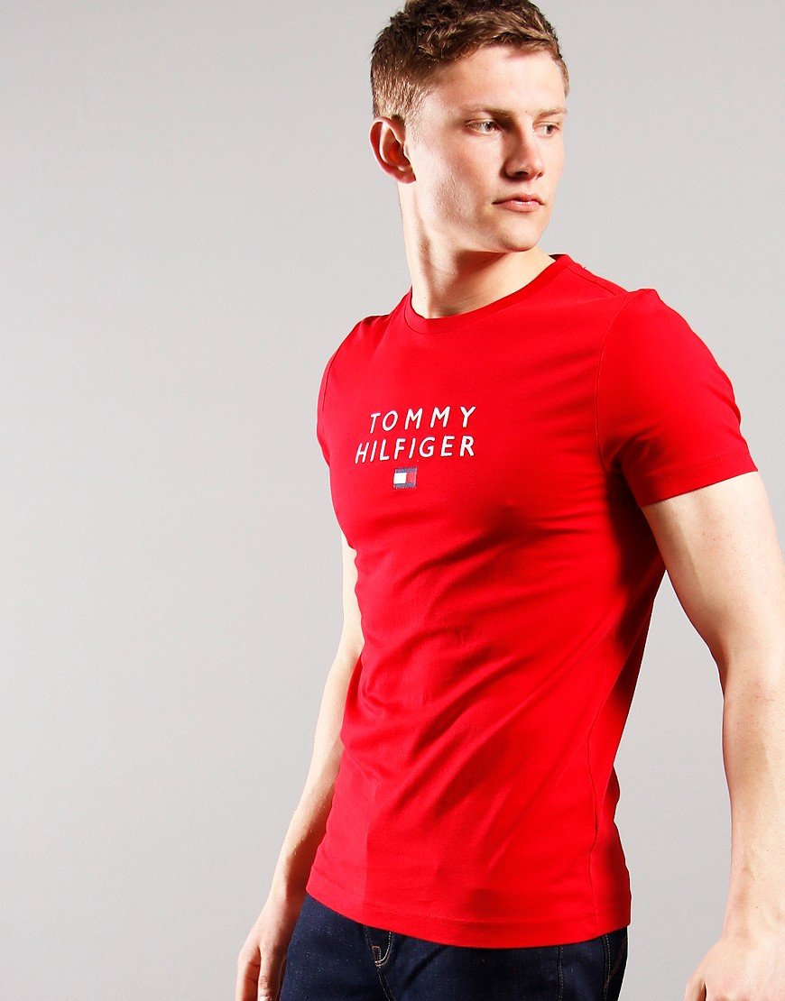 Tommy Flag Logo T-shirt Primary Red