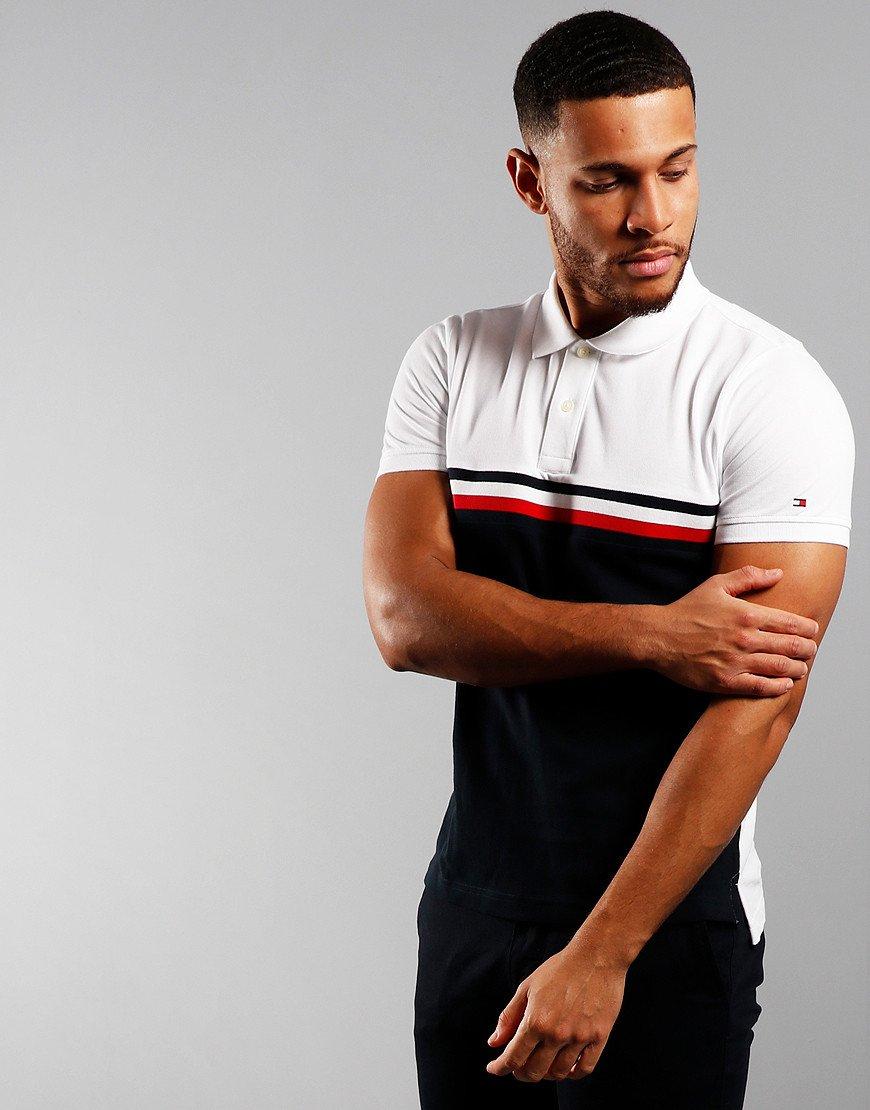 Tommy Hilfiger Insert Colour Block Polo Shirt White/Multi