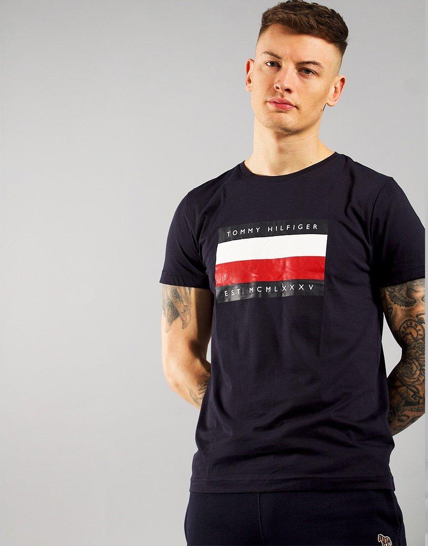 Tommy Hilfiger Corp Stripe Box T-shirt Desert Sky