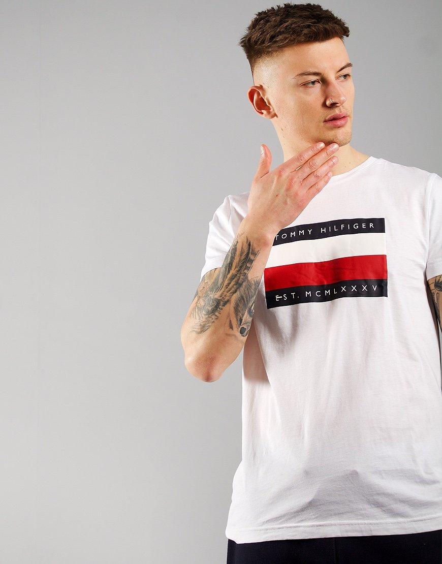 Tommy Hilfiger Corp Stripe Box T-shirt White