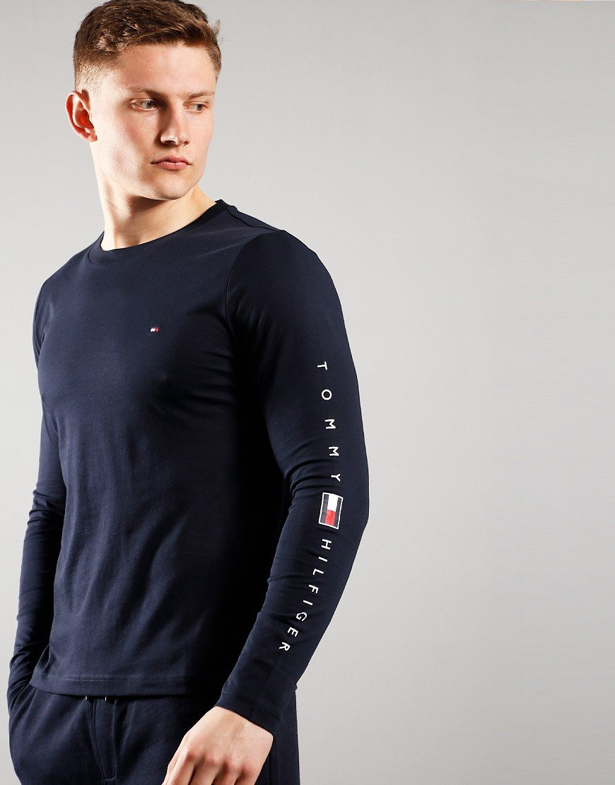 Tommy Hilfiger Essential Tommy Long Sleeve T-Shirt Desert Sky