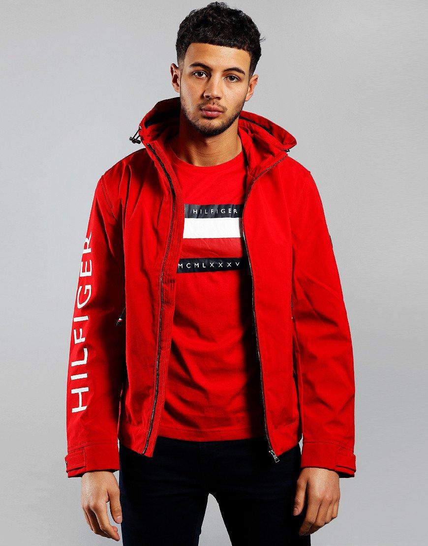 Tommy Hilfiger Flex Hooded Jacket Primary Red