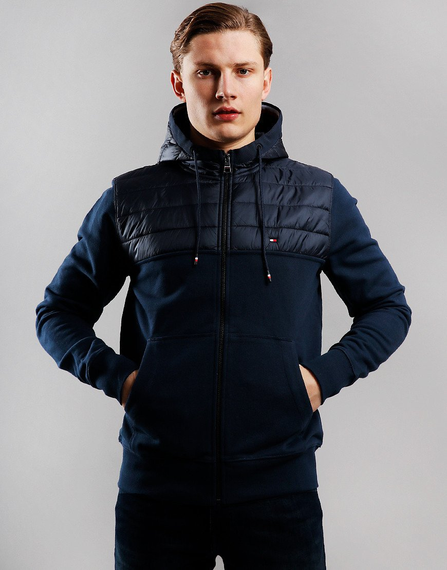 Tommy Hilfiger Hooded Zip Through Sky Captain