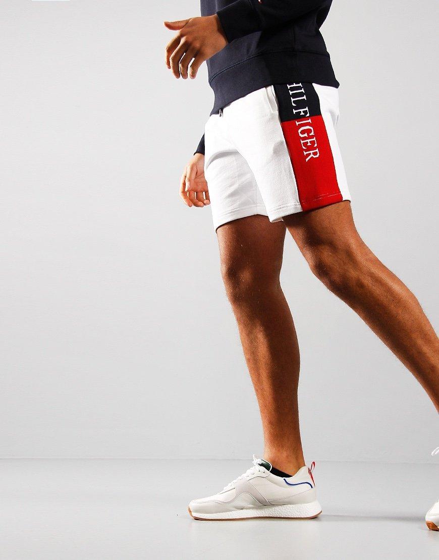 Tommy Hilfiger Intarsia Sweat Shorts White