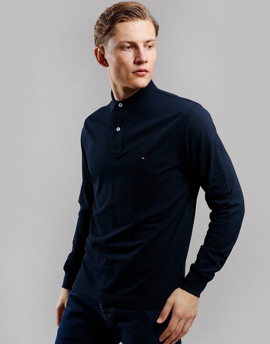 Tommy Hilfiger Regular Fit Tommy Long Sleeve Polo Shirt Sky Captain
