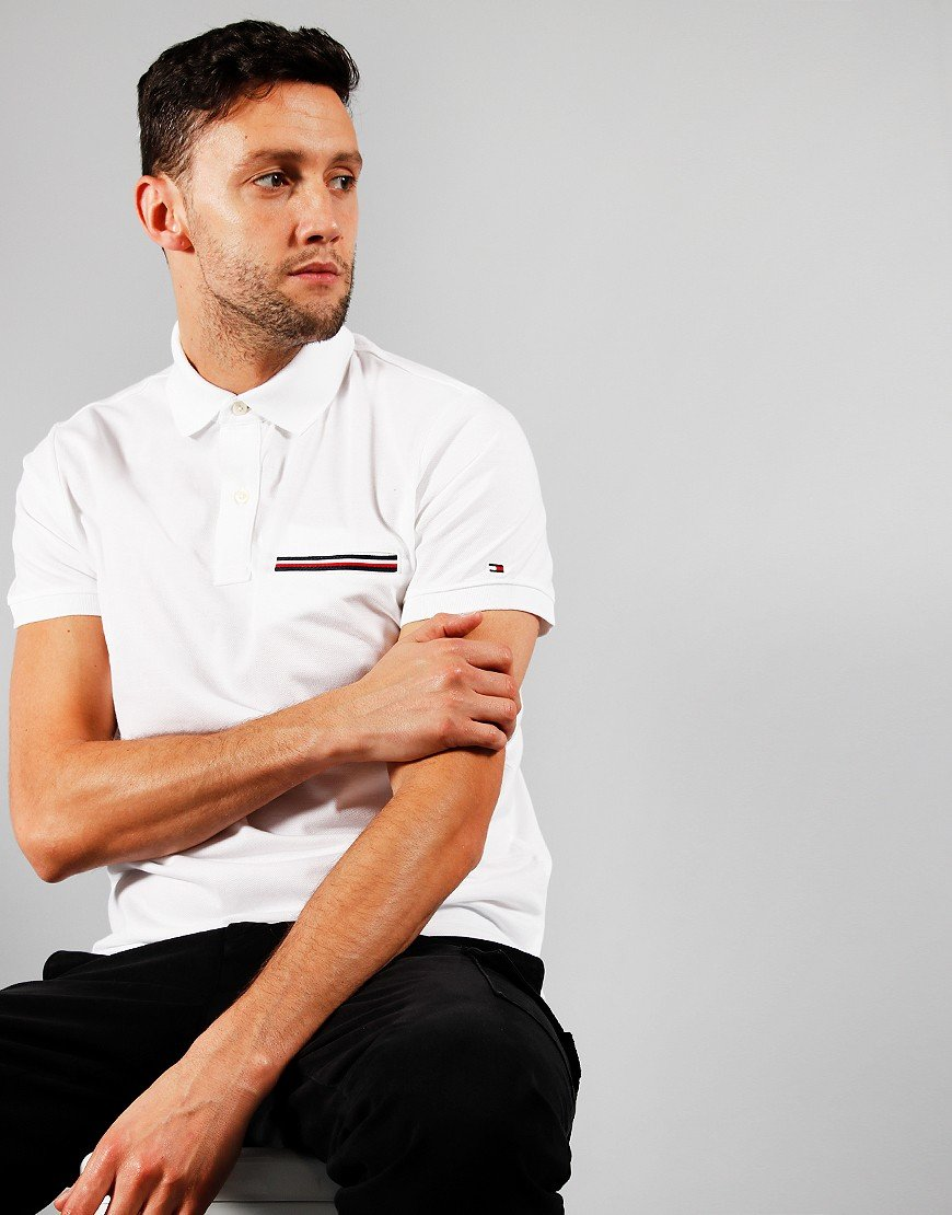 Tommy Hilfiger Pocket Polo Shirt White