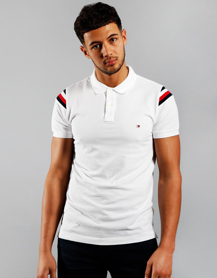 Tommy Hilfiger Shoulder GS Insert Polo Shirt White