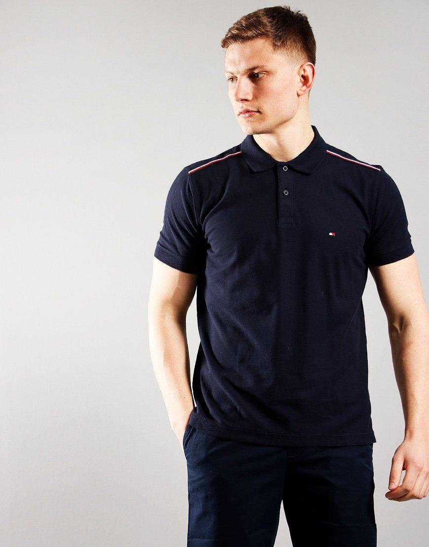 Tommy Hilfiger Shoulder Detail Polo Shirt Desert Sky