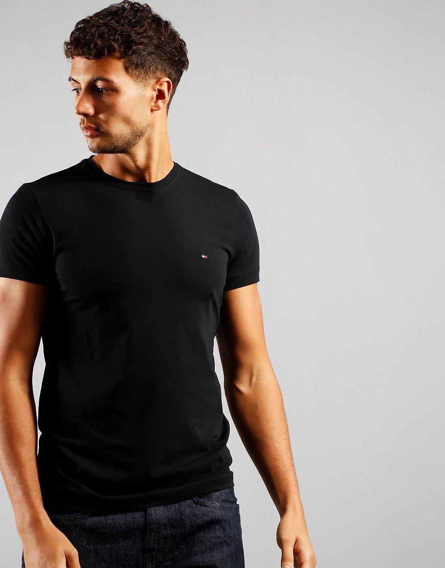 Tommy Hilfiger Stretch Fit T-Shirt Flag Black