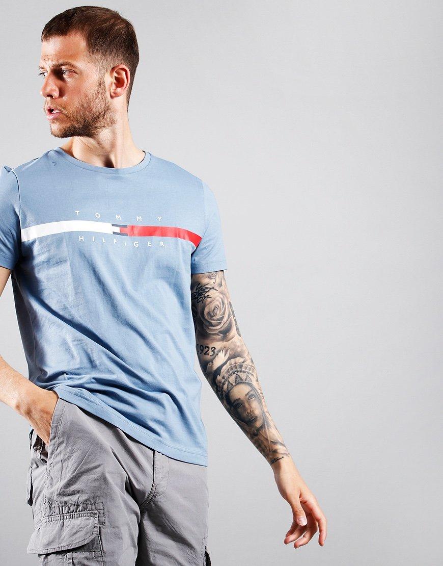 Tommy Hilfiger Stripe Chest T-Shirt Colorado Indigo