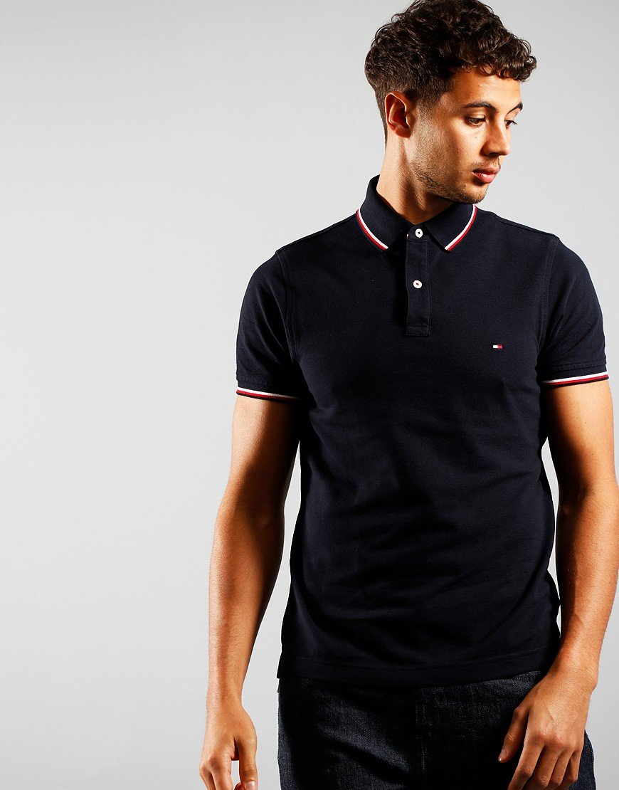 Tommy Hilfiger Tommy Tipped Polo Shirt Desert Sky
