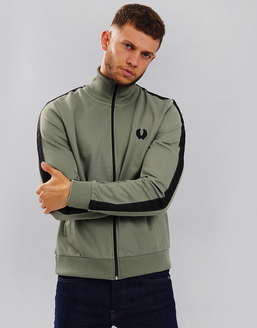 Fred Perry Tonal Taped Track Jacket Washed Khaki
