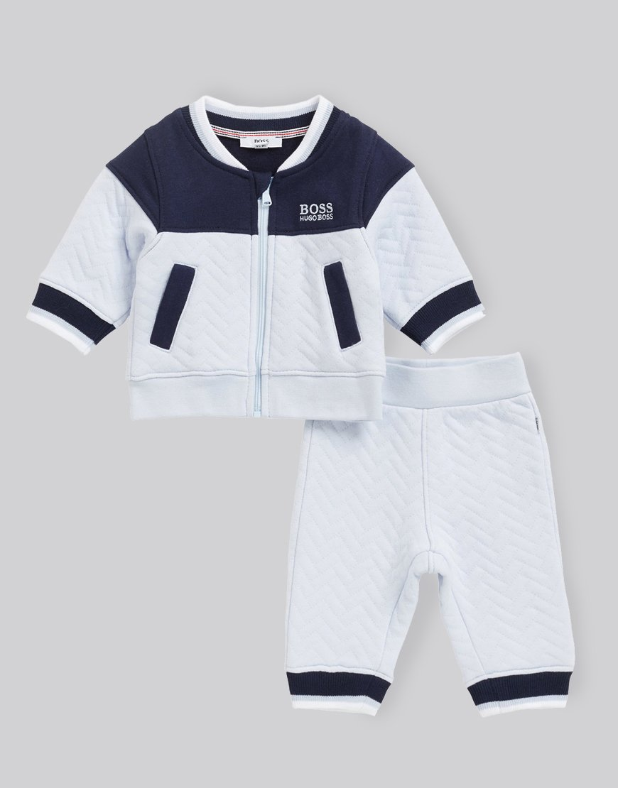 BOSS Kids J98221 Tracksuit Set Pale Blue