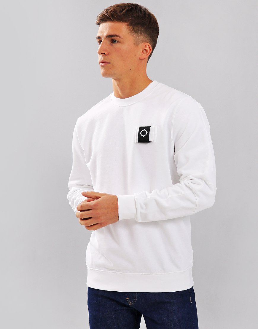 MA.Strum Training Crew Sweat White