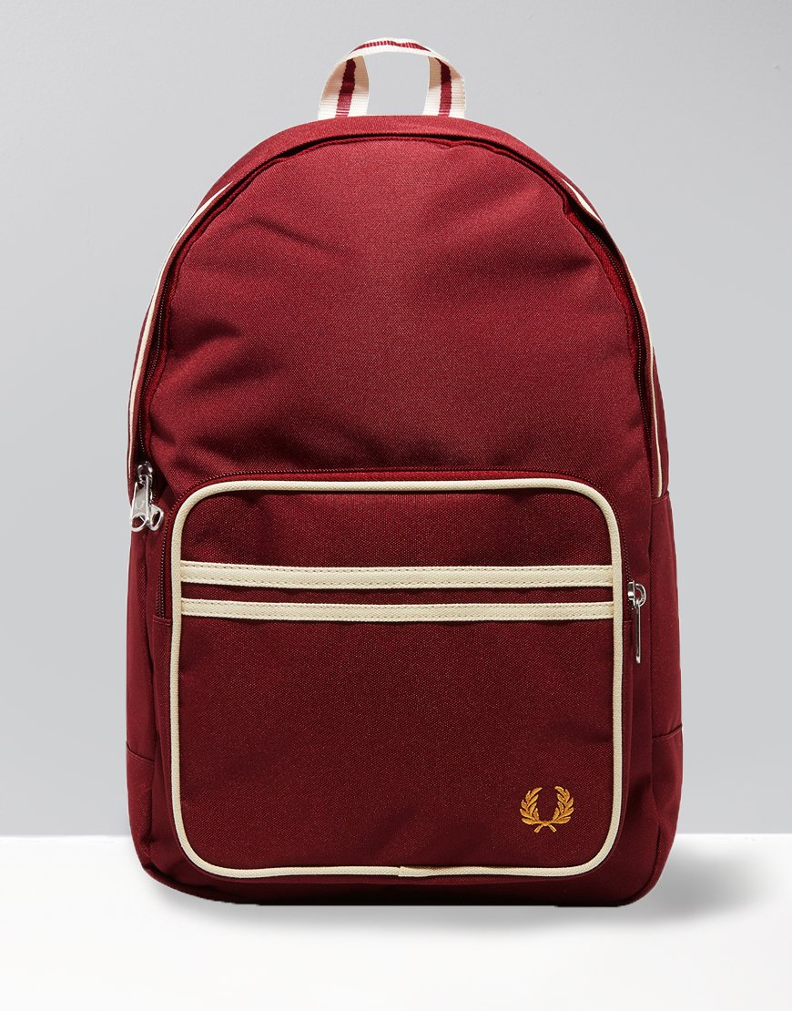 Fred Perry Twin Tipped Rucksack Port/Ecru