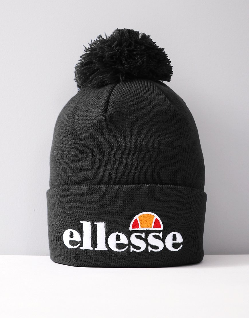 Ellesse Velly Pom Knitted Hat Black