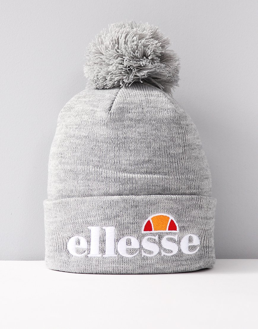 Ellesse Velly Pom Knitted Hat Grey