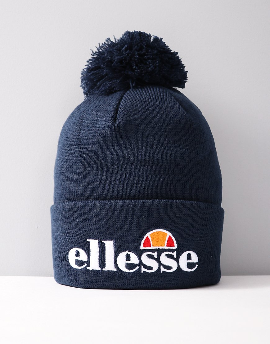 Ellesse Velly Pom Knitted Hat Navy
